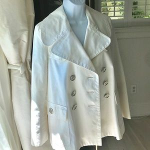 🎉🏆HP🎉 BURBERRY White Swing Jacket - Authentic 4